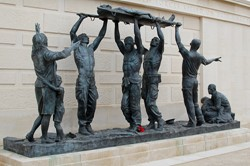 Sculpture - The Stretcher Bearers - Armed Forces Memorial, National Memorial Arboretum