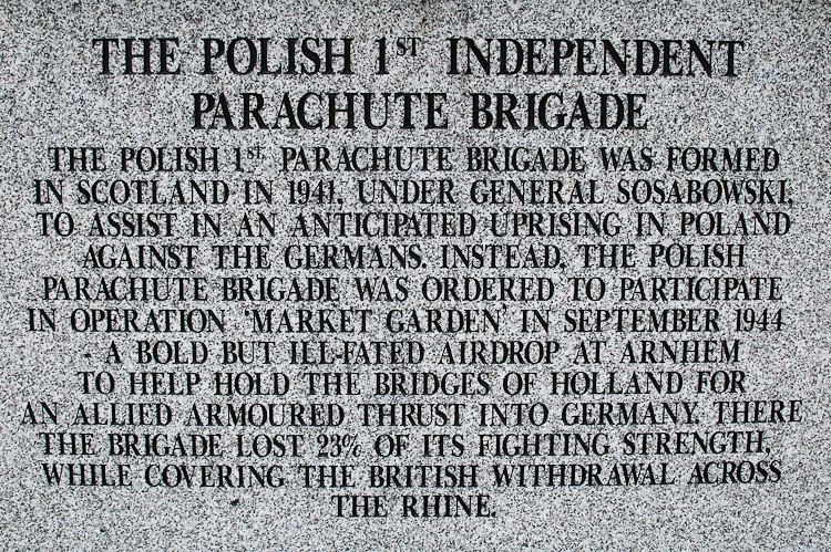 Polish 1st Independent Parachute Brigade - Polish Armed Forces Memorial