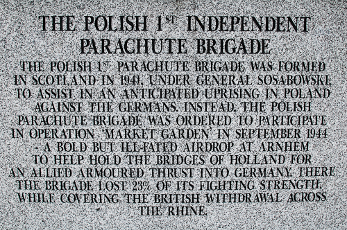 Polish Airborne (Parachute Regiment) at the Battle of Arnhem