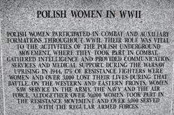 Polish Women in World War 2 - Polish Armed Forces Memorial