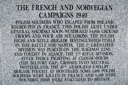 Polish French and Norwegian Campaigns 1940 - Polish Armed Forces Memorial