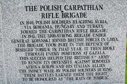 Polish Carpathian Rifle Brigade - Polish Armed Forces Memorial