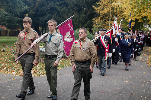Polish Scouts - All Souls Parade, Newark Cemetery