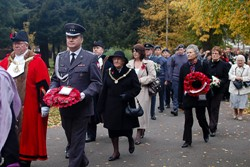 Polish Airmen Remembered at Newark - All Souls - Photographs