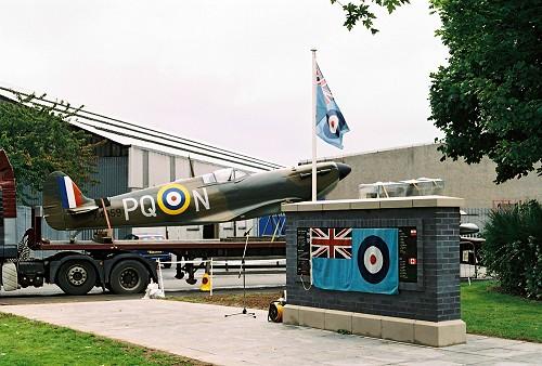 Spitfire, RAF Grangemouth, Airmen Memorial Wall