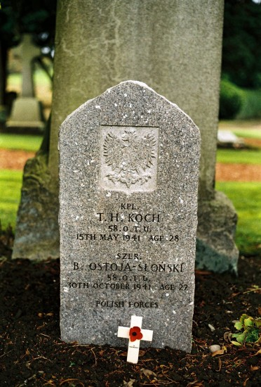 Polish Grave - T H Koch and B Ostoja-Slonski - Grandsable Cemetery, Grangemouth