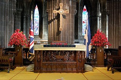 Glasgow Cathedral (Scotland) on Remembrance Sunday