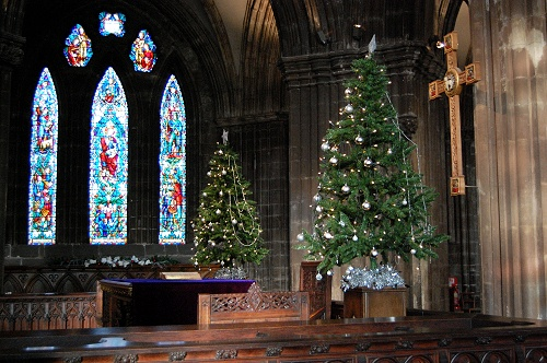Glasgow Cathedral at Christmas 2009 - Communion Table (Scotland)